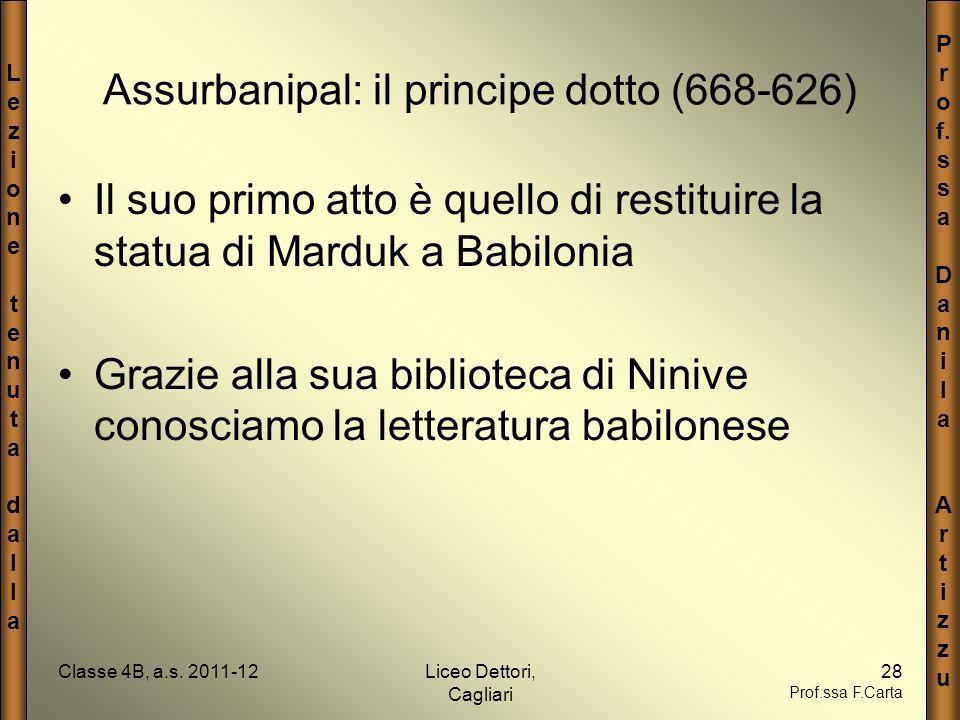 Assurbanipal: il principe dotto (668-626)