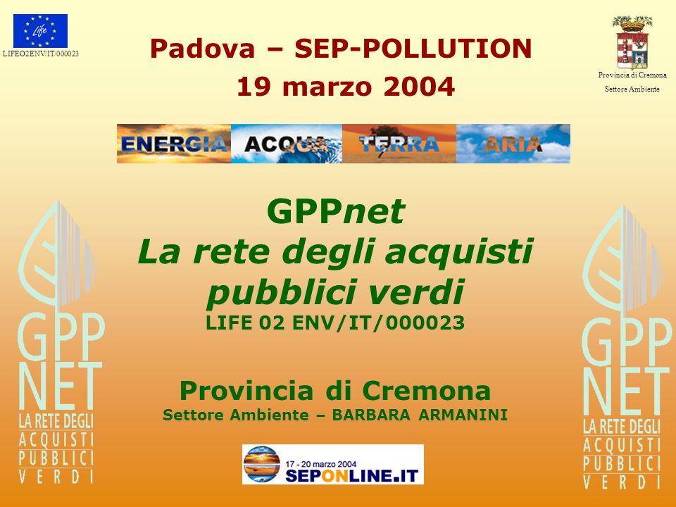 GPPnet La rete degli acquisti pubblici verdi