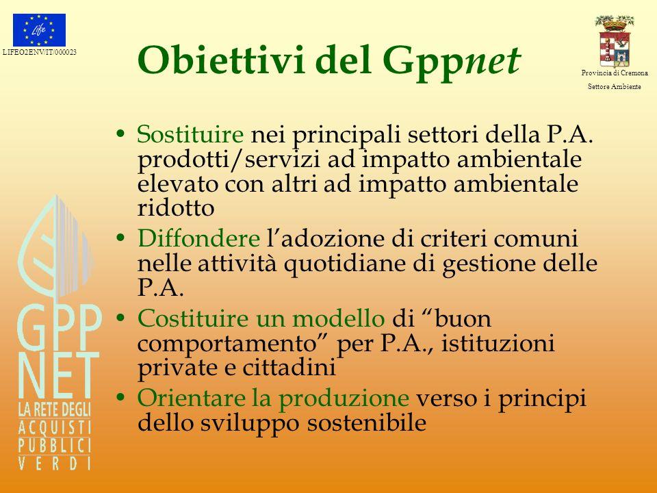 Obiettivi del Gppnet