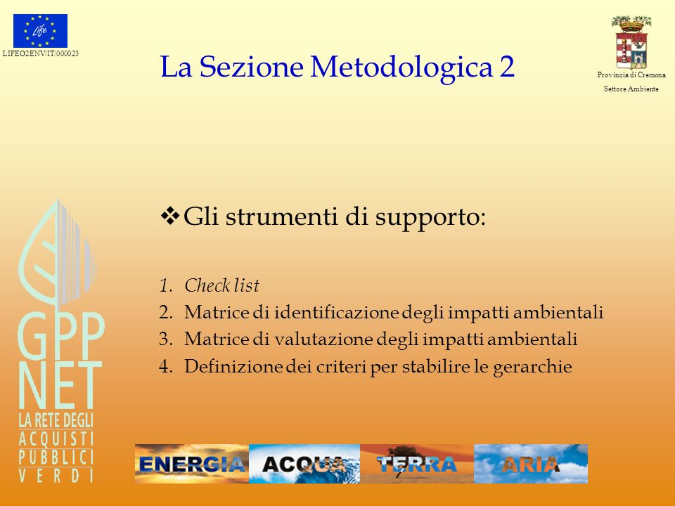 La Sezione Metodologica 2
