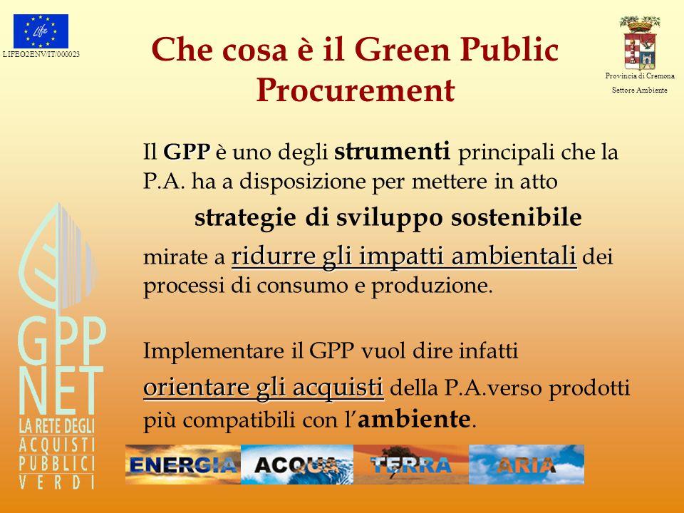 Che cosa è il Green Public Procurement