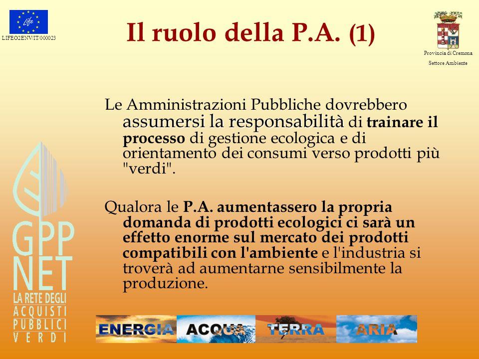 Il ruolo della P.A. (1)
