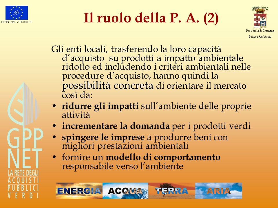 Il ruolo della P. A. (2)