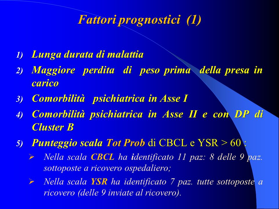 Fattori prognostici (1)
