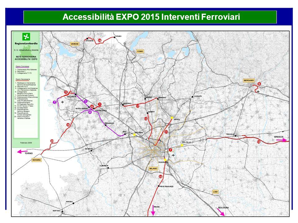 Accessibilità EXPO 2015 Interventi Ferroviari
