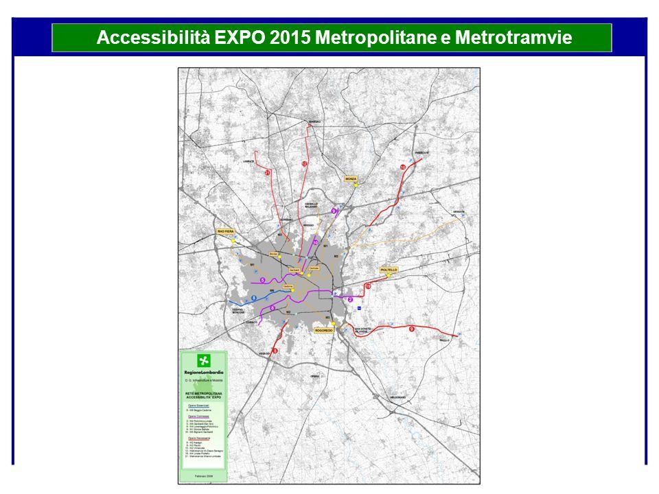 Accessibilità EXPO 2015 Metropolitane e Metrotramvie