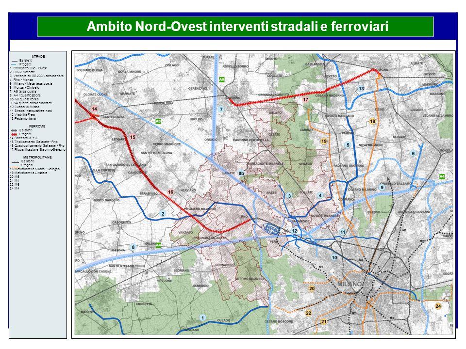 Ambito Nord-Ovest interventi stradali e ferroviari