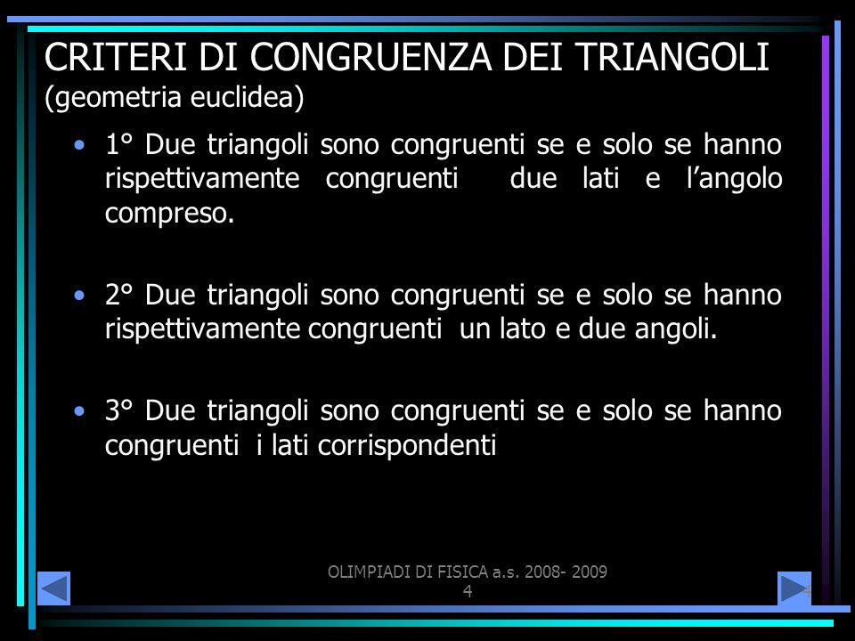CRITERI DI CONGRUENZA DEI TRIANGOLI (geometria euclidea)