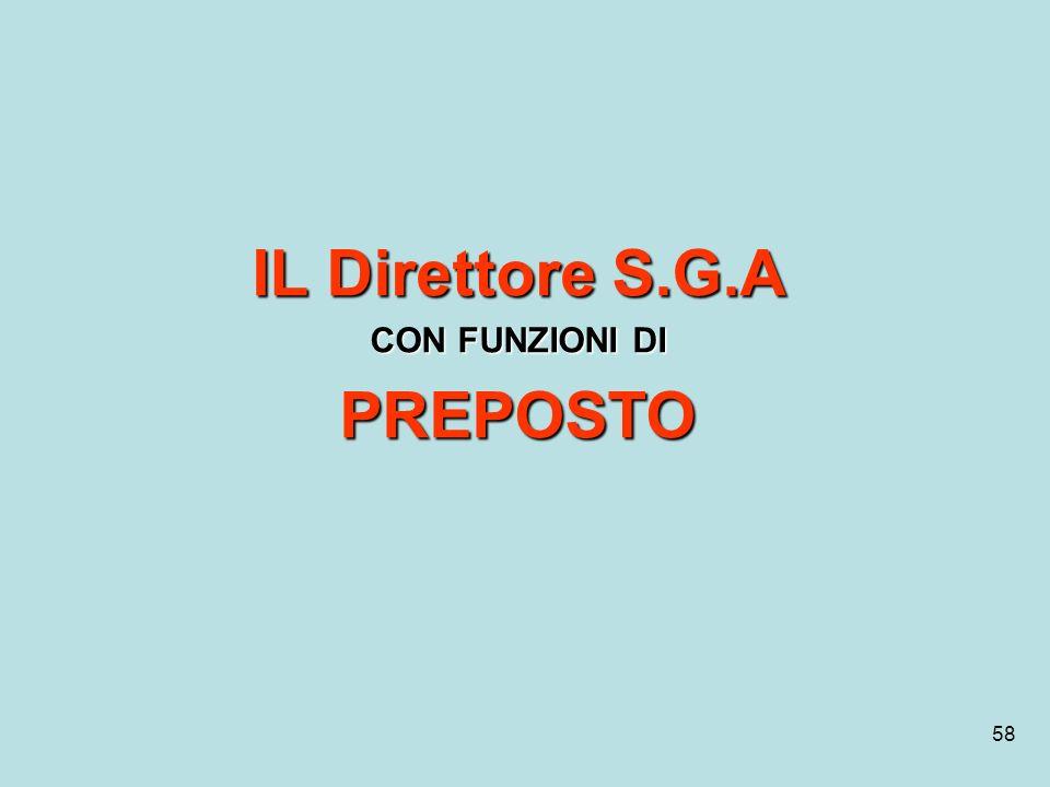 IL Direttore S.G.A PREPOSTO