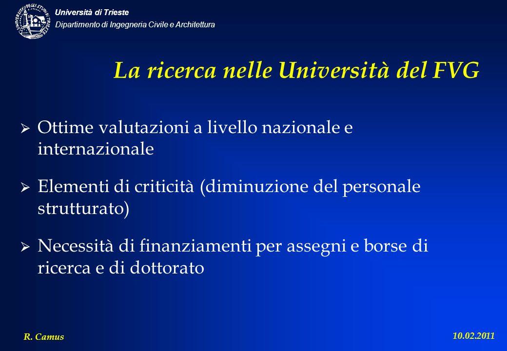 La ricerca nelle Università del FVG