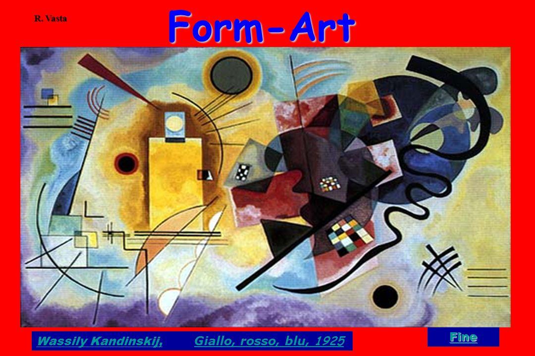 Form-Art R. Vasta Fine Wassily Kandinskij, Giallo, rosso, blu, 1925