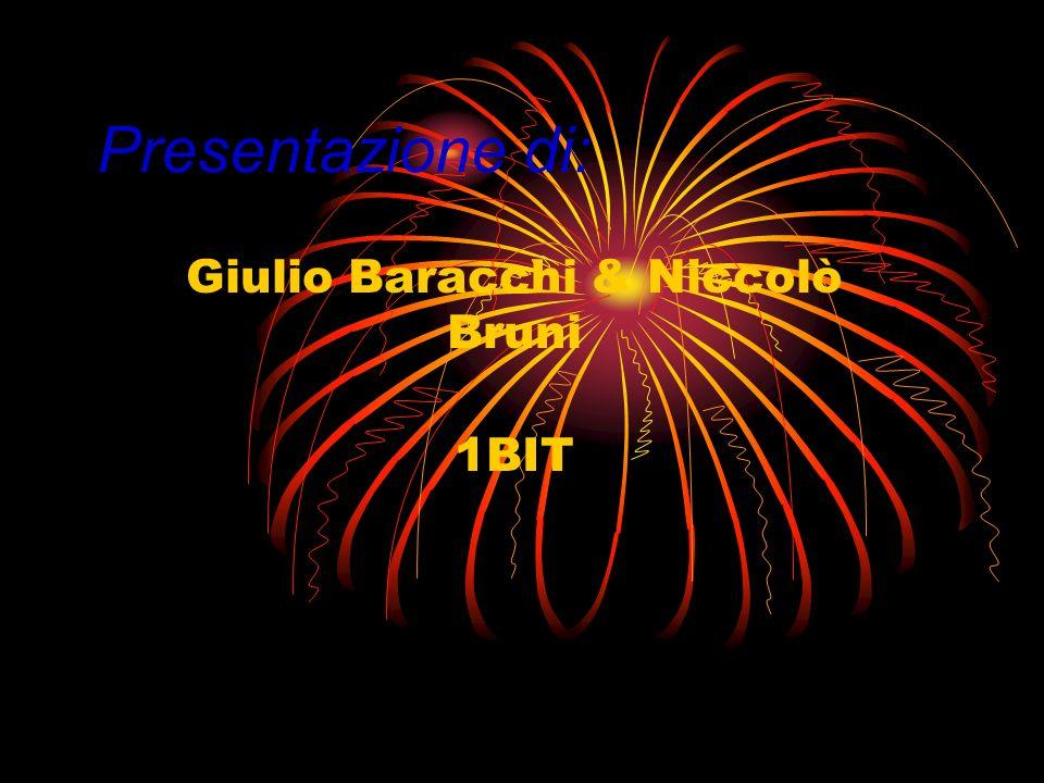 Giulio Baracchi & Niccolò Bruni 1BIT