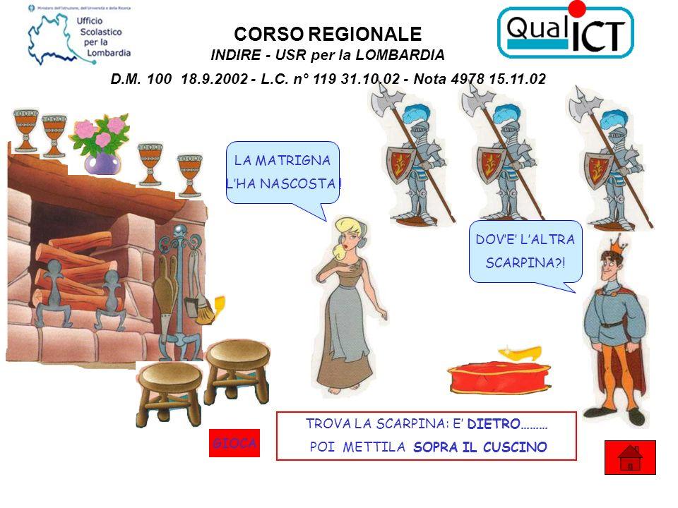 CORSO REGIONALE INDIRE - USR per la LOMBARDIA D.M. 100 18.9.2002 - L.C. n° 119 31.10.02 - Nota 4978 15.11.02