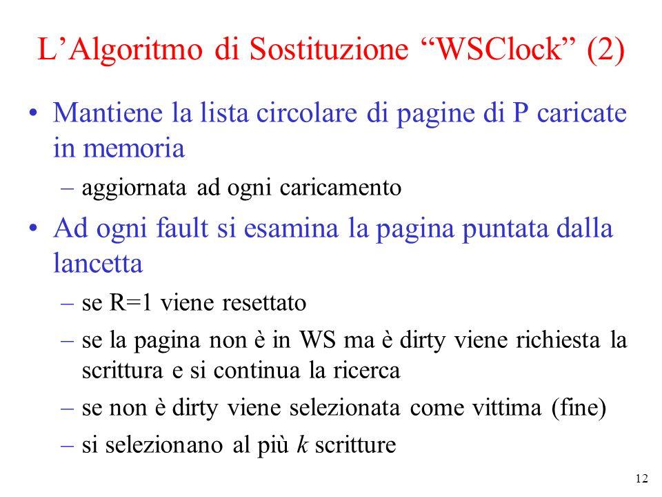 L'Algoritmo di Sostituzione WSClock (2)