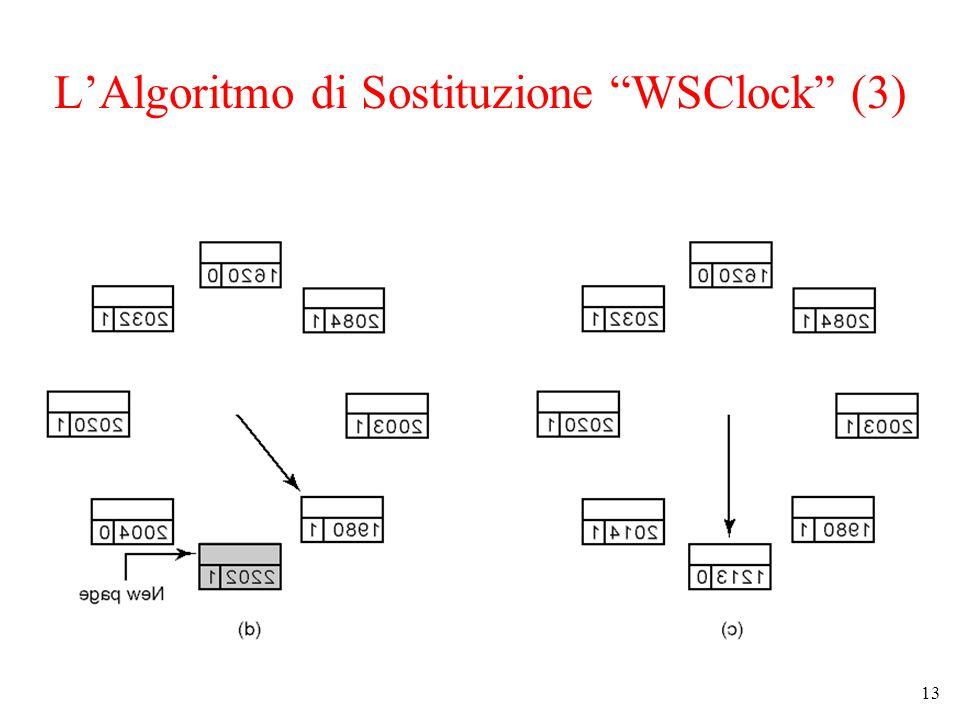 L'Algoritmo di Sostituzione WSClock (3)