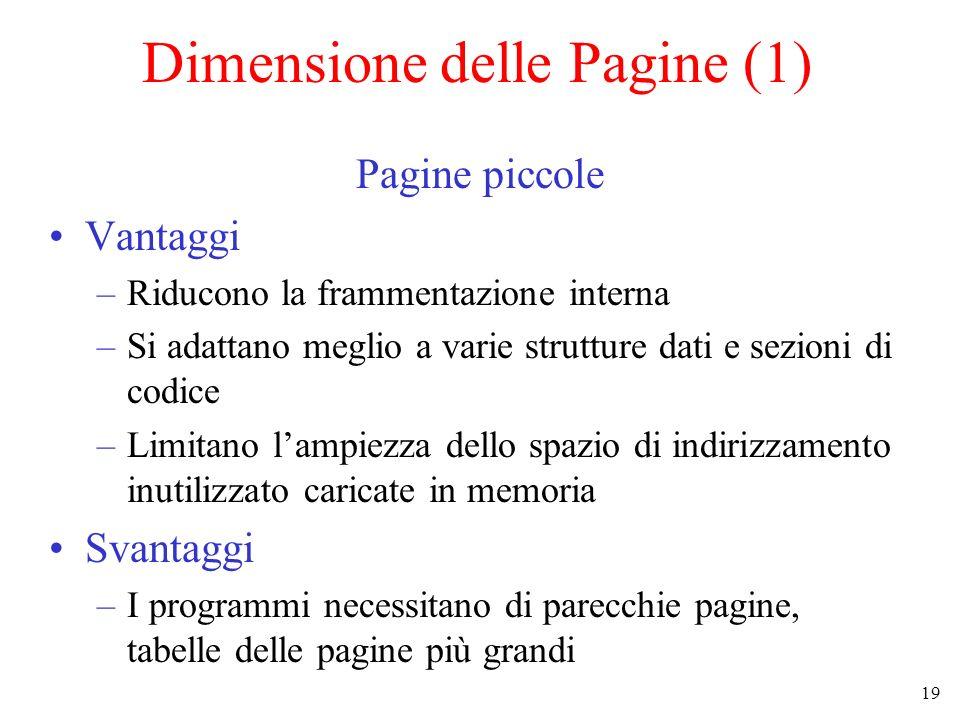 Dimensione delle Pagine (1)