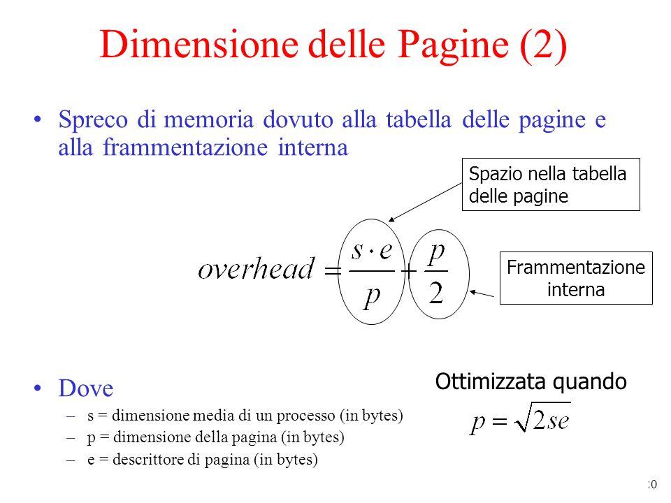 Dimensione delle Pagine (2)
