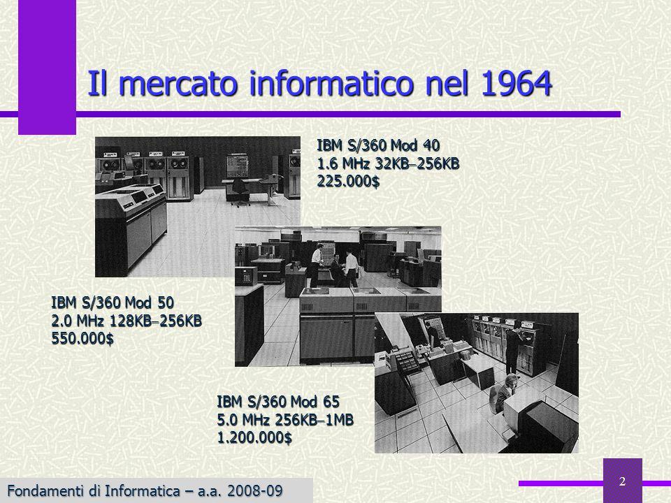 Il mercato informatico nel 1964