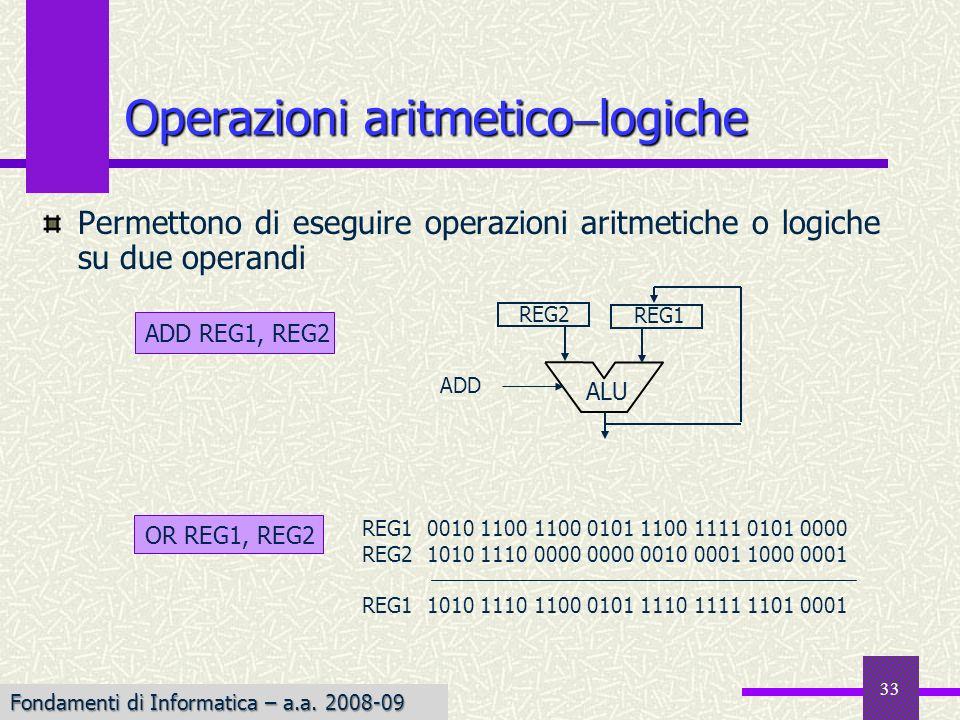 Operazioni aritmeticologiche