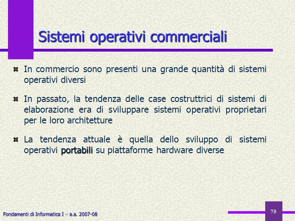 Sistemi operativi commerciali