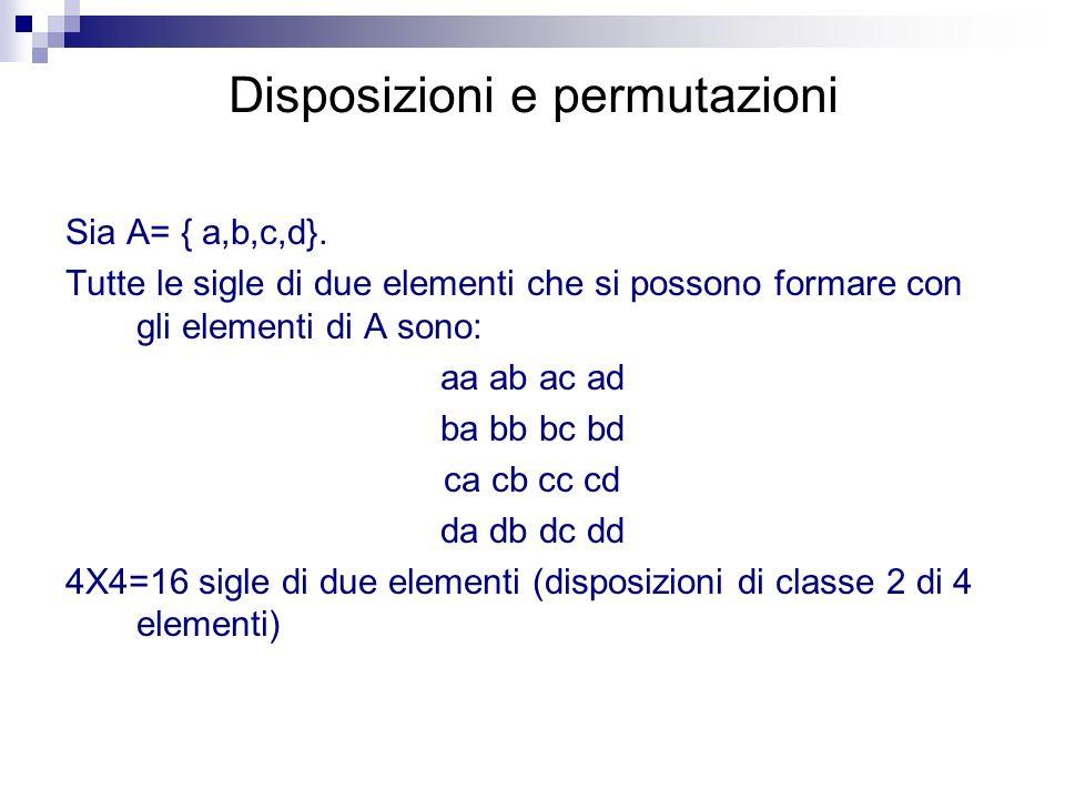Disposizioni e permutazioni