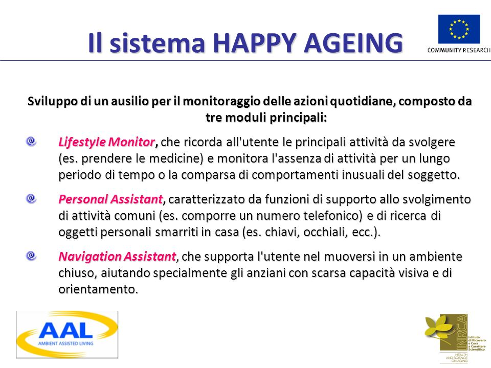 Il sistema HAPPY AGEING