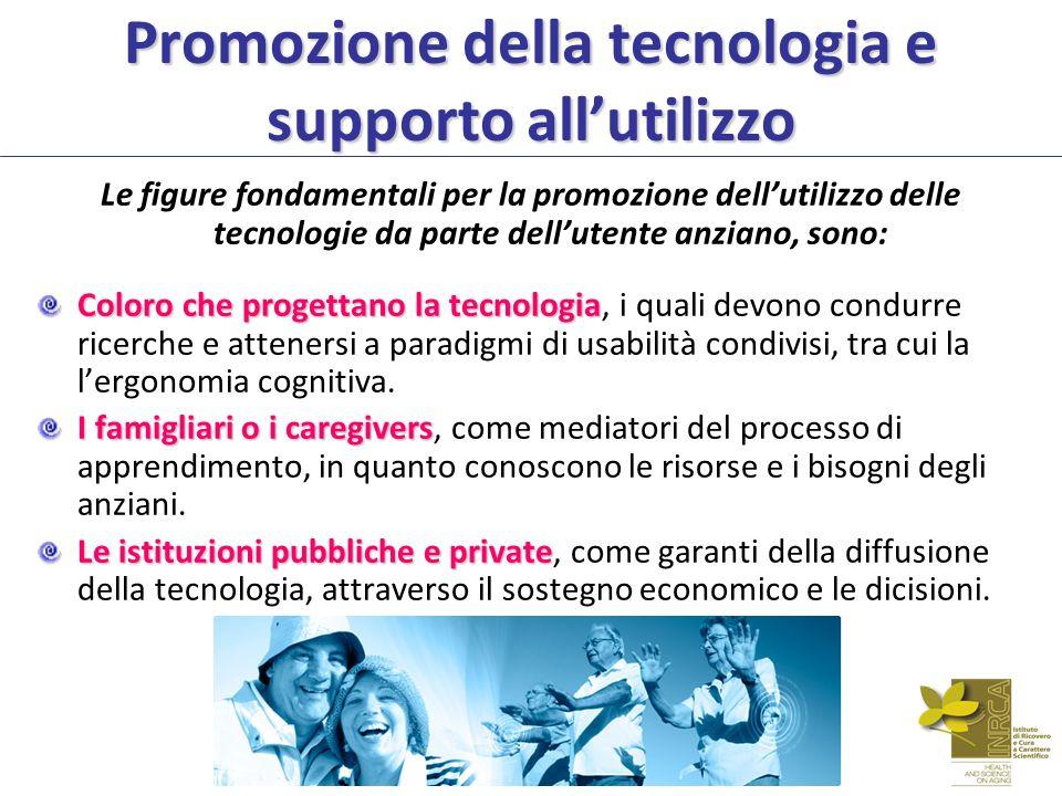 Promozione della tecnologia e supporto all'utilizzo