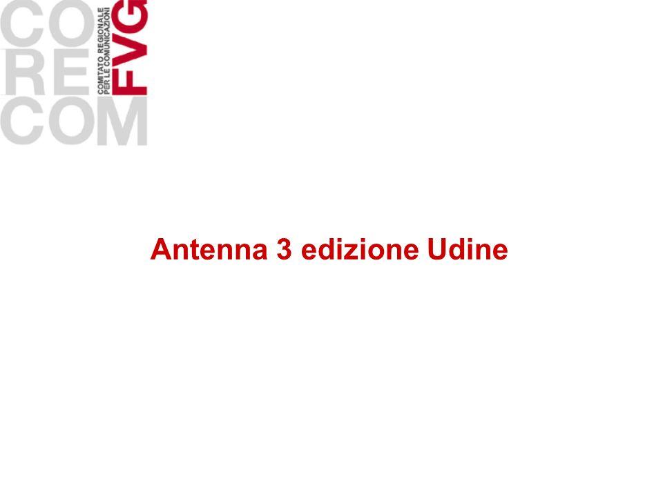 Antenna 3 edizione Udine
