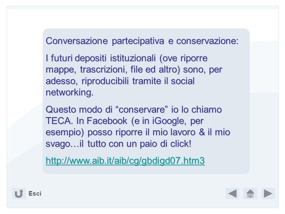 Conversazione partecipativa e conservazione: