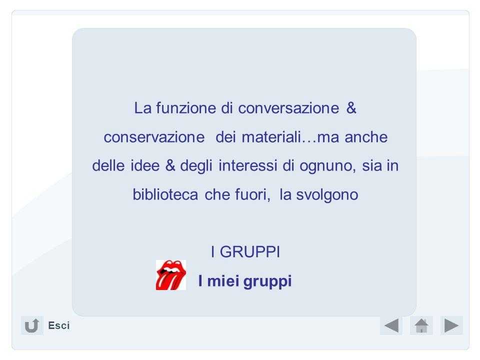 La funzione di conversazione & conservazione dei materiali…ma anche delle idee & degli interessi di ognuno, sia in biblioteca che fuori, la svolgono