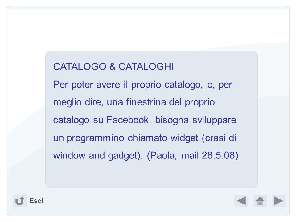CATALOGO & CATALOGHI