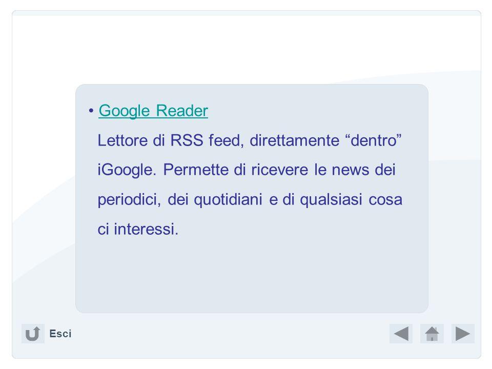 Lettore di RSS feed, direttamente dentro