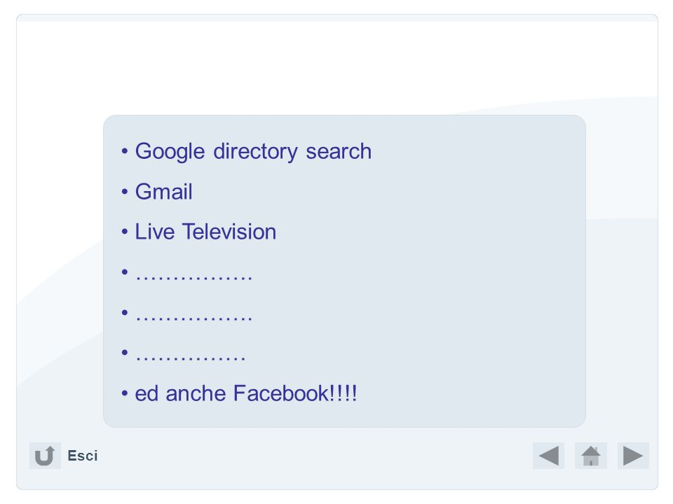 Google directory search Gmail Live Television …………….