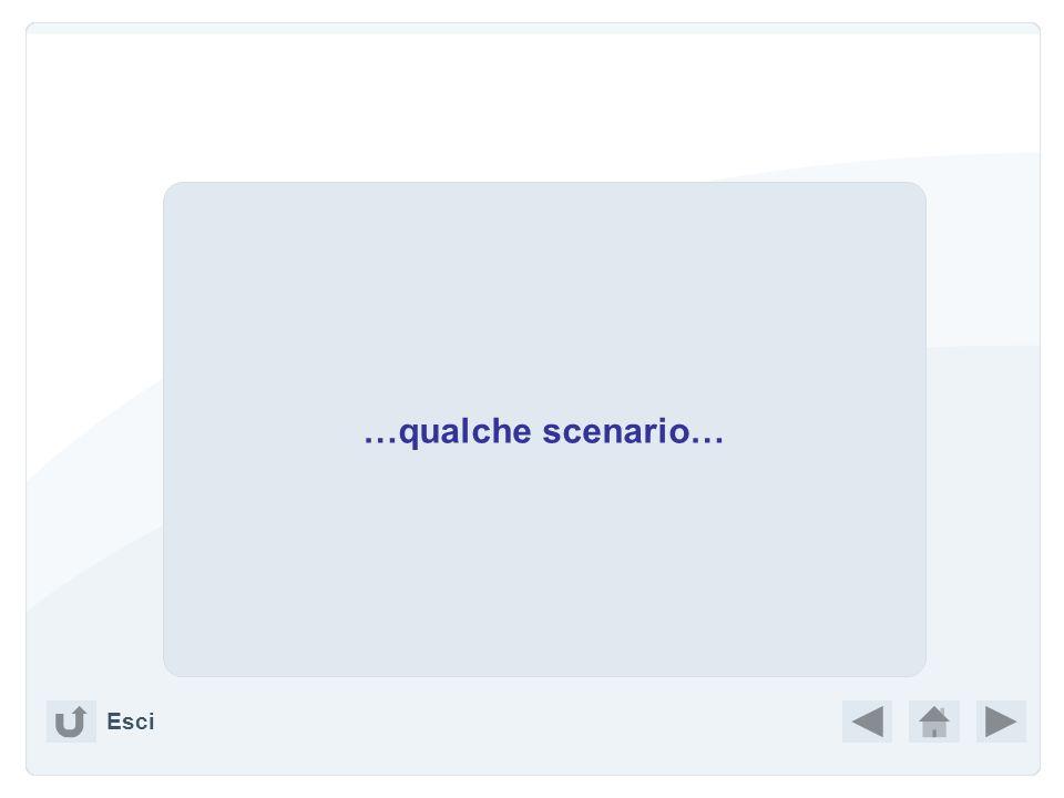 …qualche scenario… Esci