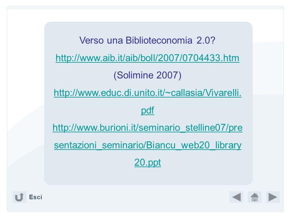 Verso una Biblioteconomia 2.0