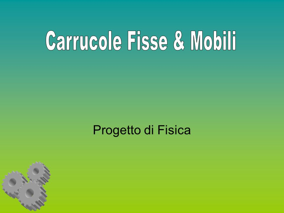 Carrucole Fisse & Mobili