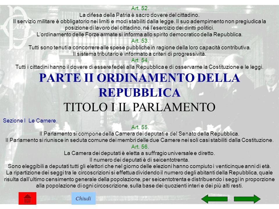 PARTE II ORDINAMENTO DELLA REPUBBLICA