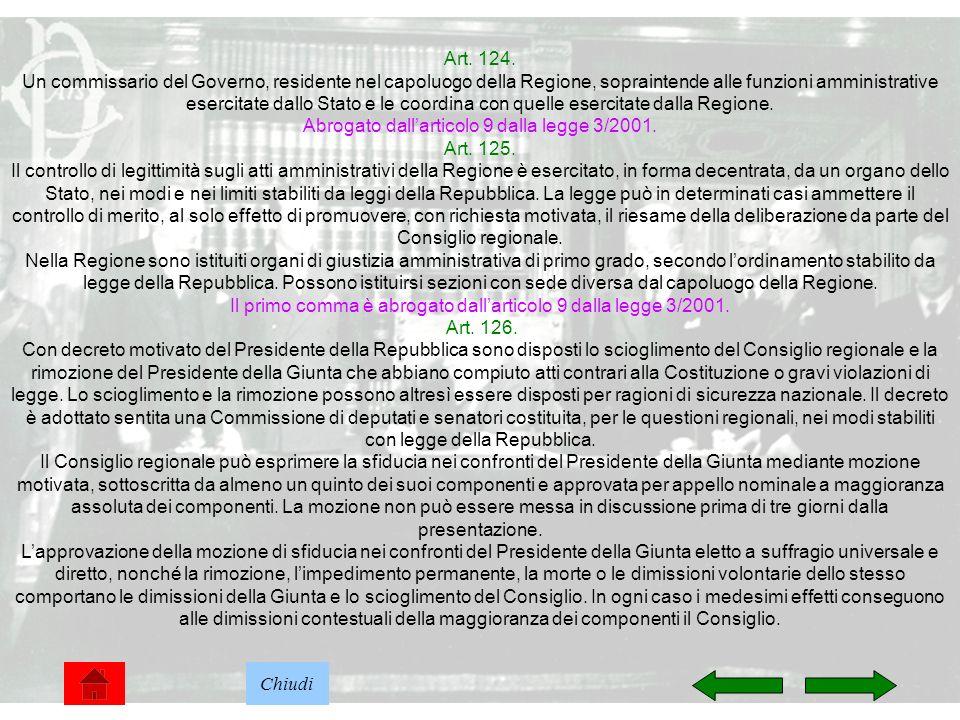 Abrogato dall'articolo 9 dalla legge 3/2001. Art. 125.