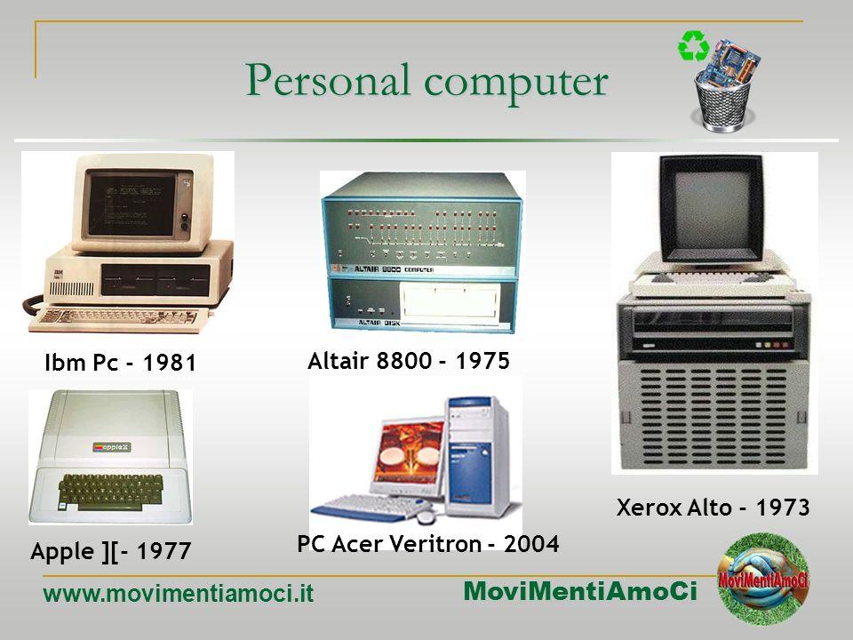 Personal computer Ibm Pc - 1981 Altair 8800 - 1975 Xerox Alto - 1973
