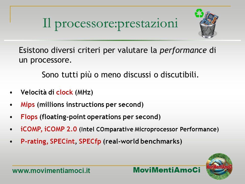 Il processore:prestazioni