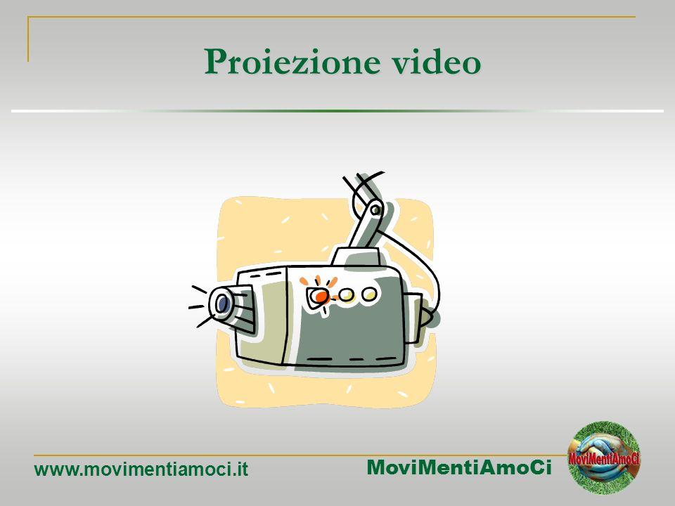 Proiezione video