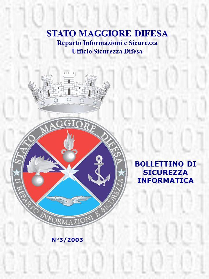 STATO MAGGIORE DIFESA Reparto Informazioni e Sicurezza