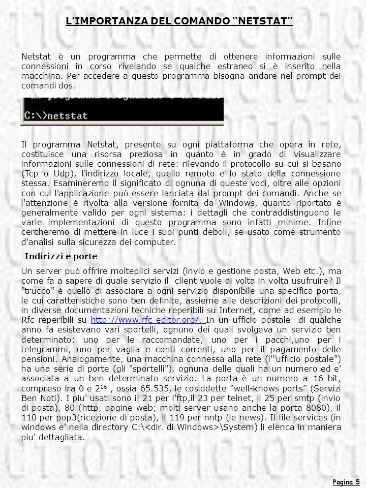 L'IMPORTANZA DEL COMANDO NETSTAT