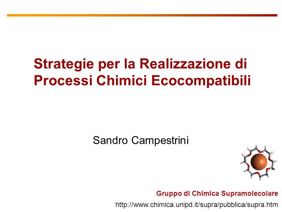 Strategie per la Realizzazione di Processi Chimici Ecocompatibili
