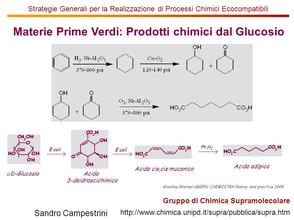 Materie Prime Verdi: Prodotti chimici dal Glucosio