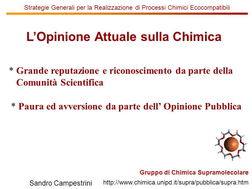 L'Opinione Attuale sulla Chimica