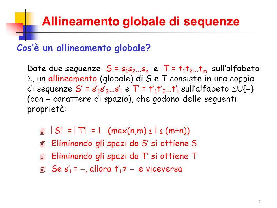 Allineamento globale di sequenze