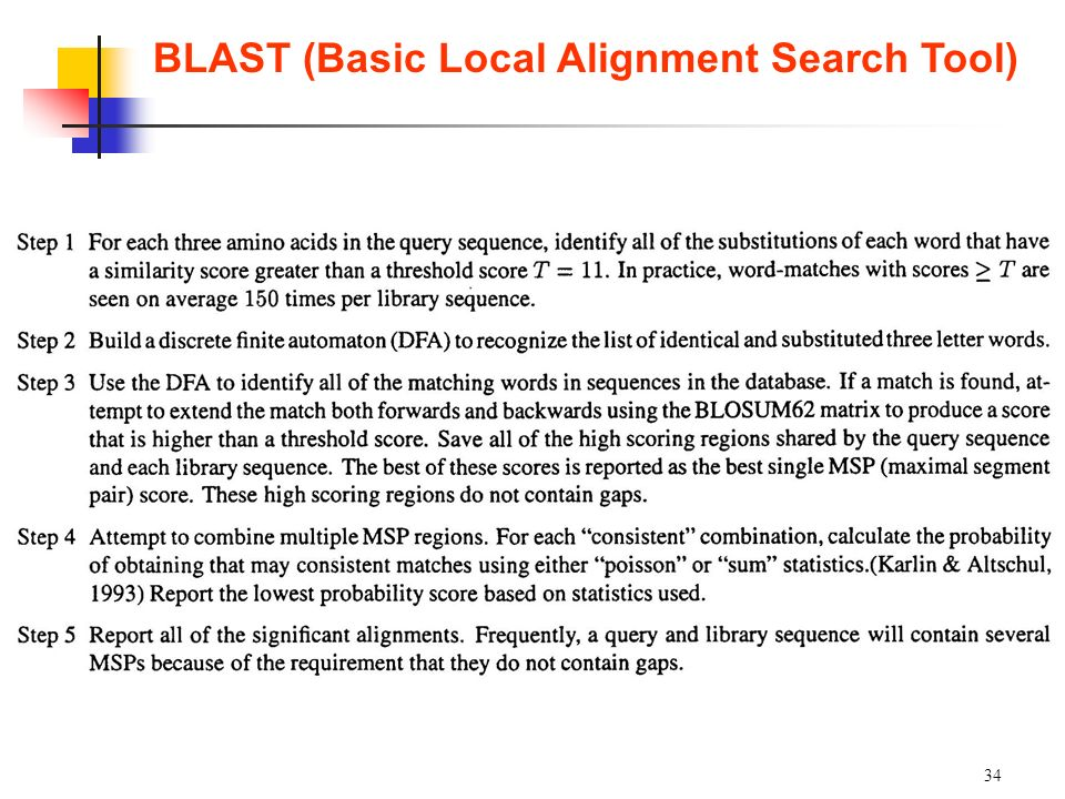 BLAST (Basic Local Alignment Search Tool)