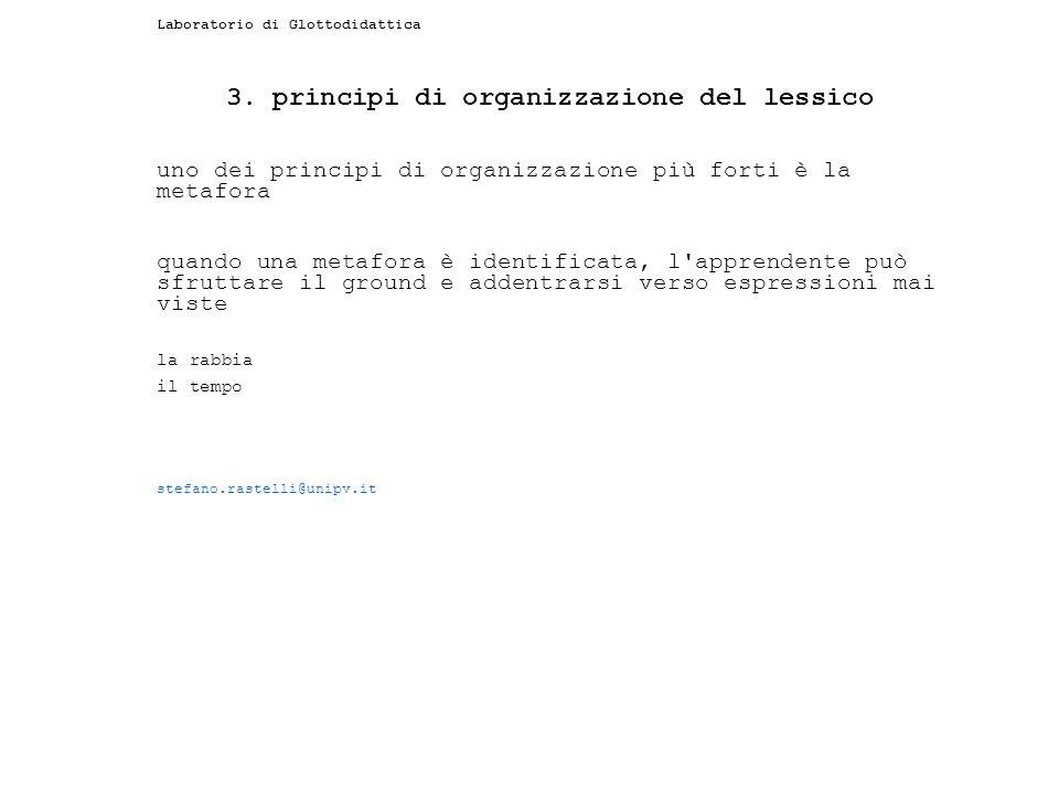 3. principi di organizzazione del lessico