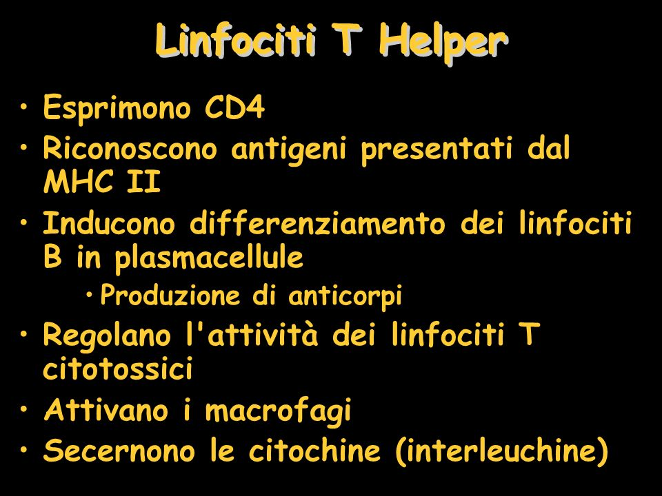 Linfociti T Helper Esprimono CD4